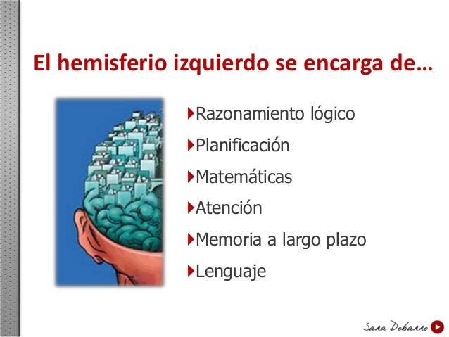 El hemisferio derecho… Imaginación Intuición  Comprensión Sentido artístico  Empatía Creatividad Genialidad Síntes...
