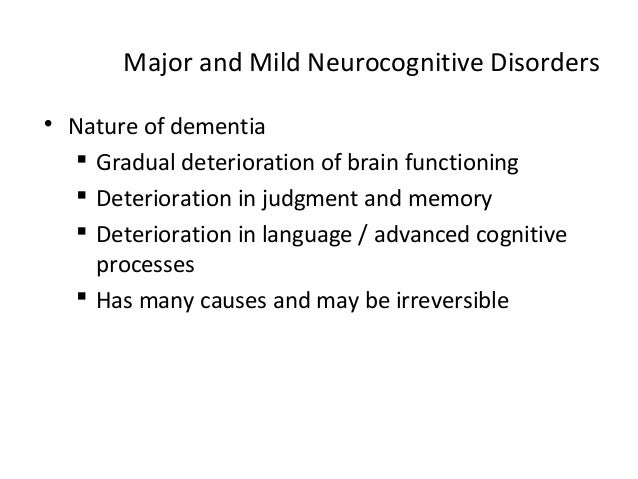 Neurocognitive disorders (1)