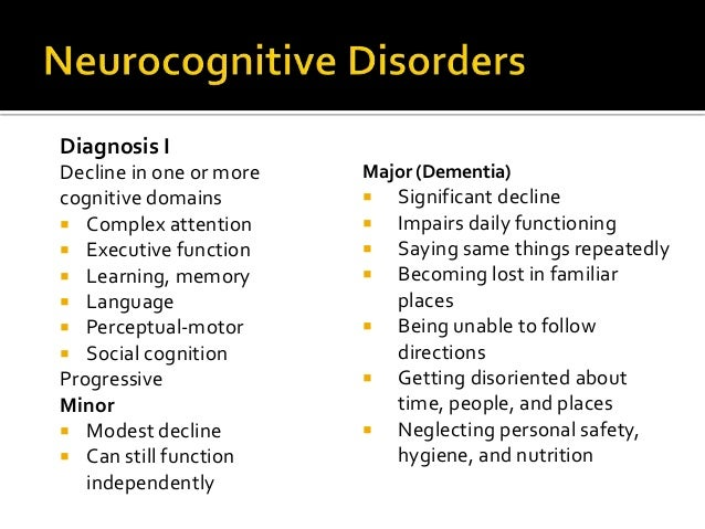 Neurocognitive disorder due to alzheimers disease case study