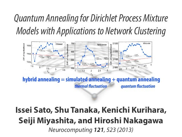 Quantum Annealing for Dirichlet Process Mixture Models with Applications to Network Clustering  Issei Sato, Shu Tanaka, Ke...