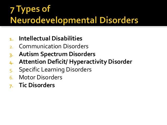 Neurodevelopmental Disorders for NCMHCE Study
