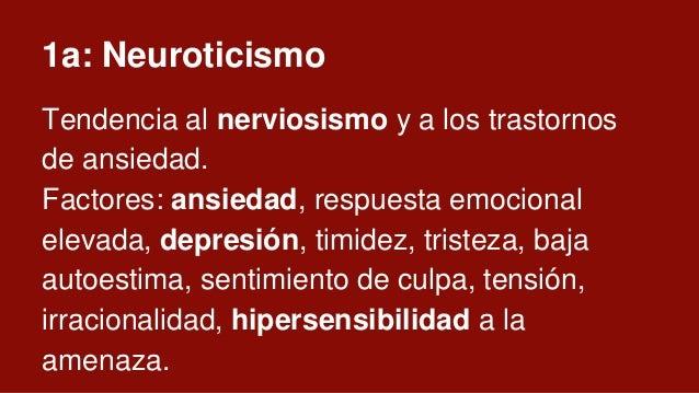 Autocontrol y Hostilidad. Factores: agresividad, frialdad, egocentrismo, impersonalidad, impulsividad, conducta antisocial...