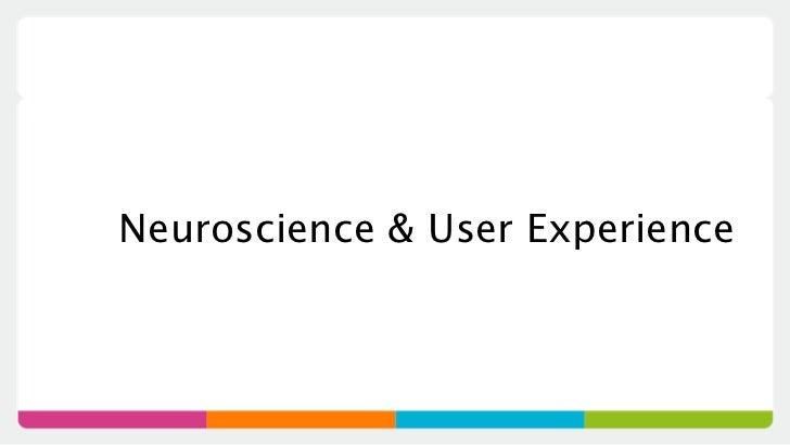 Neuroscience & User Experience