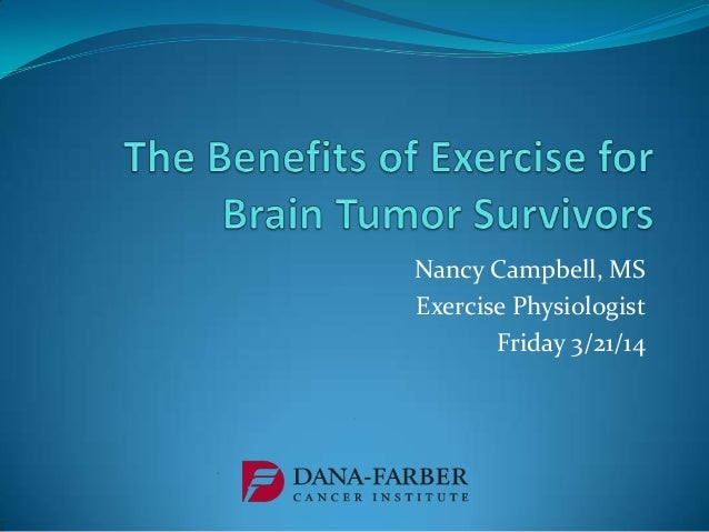 Nancy Campbell, MS Exercise Physiologist Friday 3/21/14