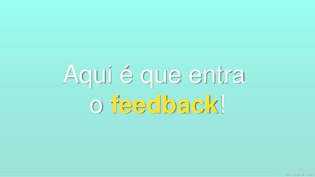 —Dr. Rosimar Dias— 14 Aqui é que entra o feedback!