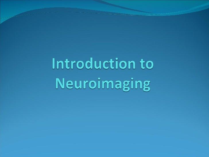 Neuroimaging Lecture
