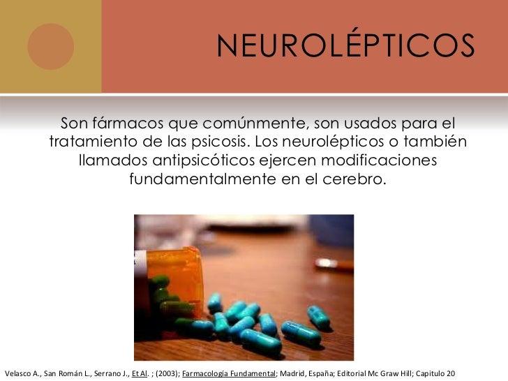 Farmacos antipsicoticos