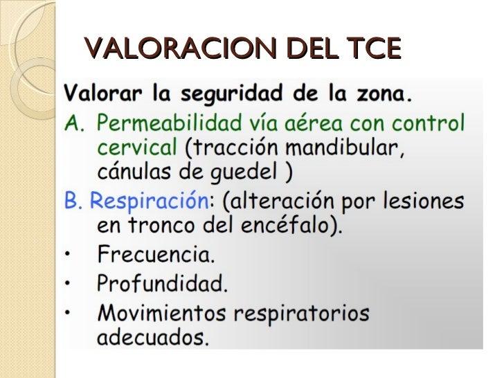 VALORACION DEL TCE