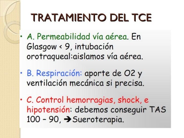 TRATAMIENTO DEL TCE