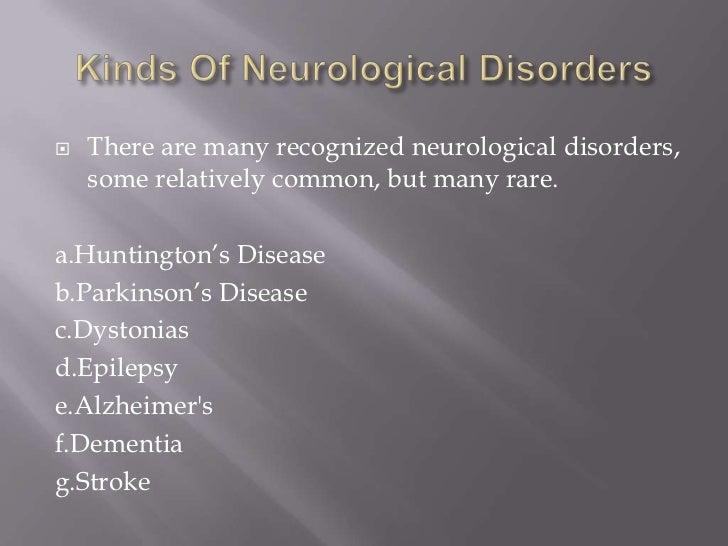 6/10 Neurological disorders