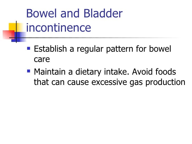 What Foods Can Cause Bowel Incontinence