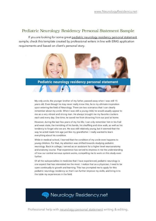 myeras personal statement tips VCU Department of Neurology