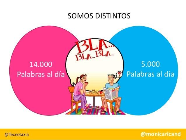 SOMOS DISTINTOS  14.000 Palabras al día  @Tecnotaxia  5.000 Palabras al día  @monicaricand