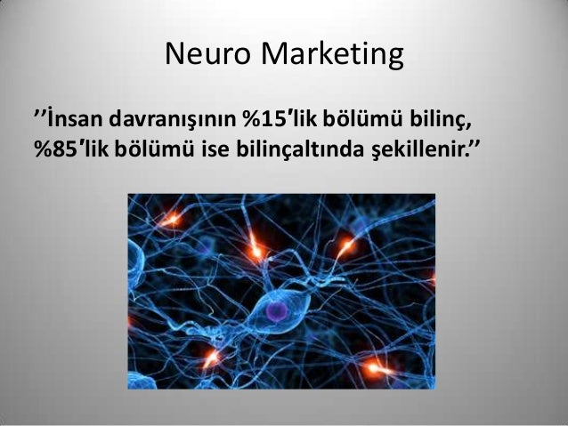 neuro marketing We predict how consumers react to products, prices and ads using cutting-edge neuroscience learn how tapping brain activity boosts marketing, strategy and sales.