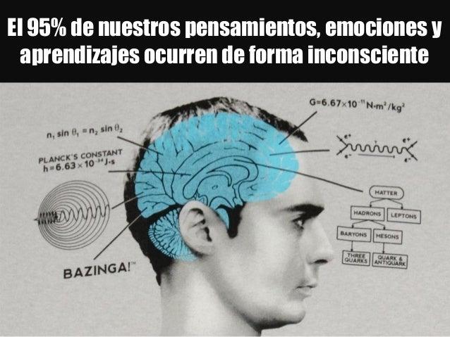 El 95% de nuestros pensamientos, emociones y aprendizajes ocurren de forma inconsciente