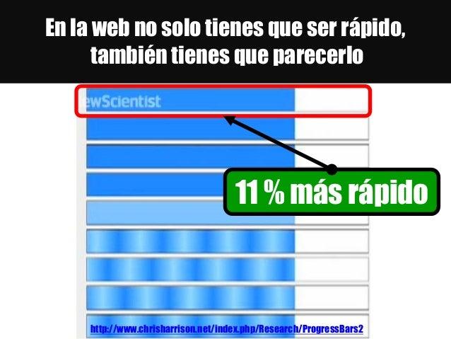 En la web no solo tienes que ser rápido, también tienes que parecerlo http://www.chrisharrison.net/index.php/Research/Prog...