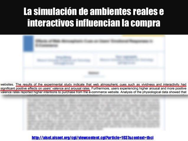 La simulación de ambientes reales e interactivos influencian la compra http://aisel.aisnet.org/cgi/viewcontent.cgi?article...