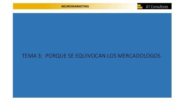 TEMA 3: PORQUE SE EQUIVOCAN LOS MERCADOLOGOS