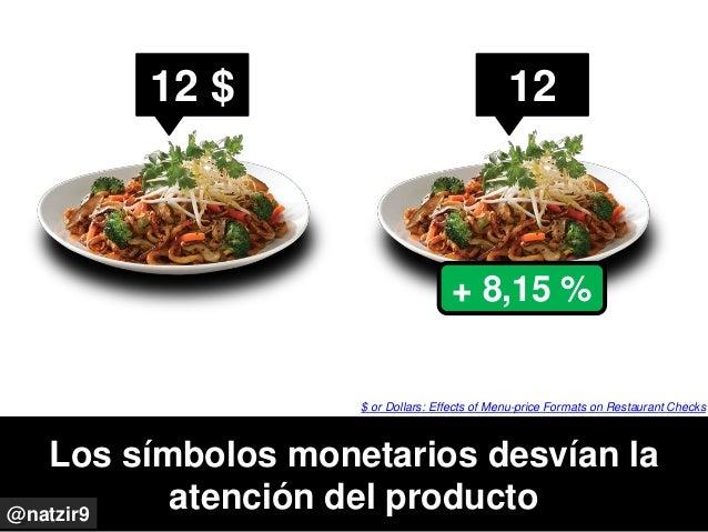 Los símbolos monetarios desvían la atención del producto@natzir9 $ or Dollars: Effects of Menu-price Formats on Restaurant...