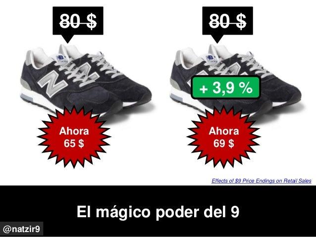 El mágico poder del 9 @natzir9 80 $ Ahora 65 $ 80 $ Ahora 69 $ + 3,9 % Effects of $9 Price Endings on Retail Sales