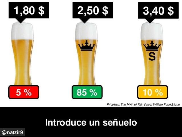 Introduce un señuelo @natzir9 2,50 $ 3,40 $1,80 $ S 10 %85 %5 % Priceless: The Myth of Fair Value, William Poundstone