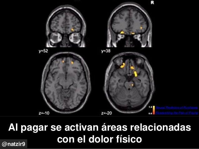 Al pagar se activan áreas relacionadas con el dolor físico@natzir9 Researching the Pain of Paying Neural Predictors of Pur...