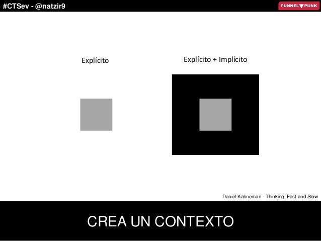 #CTSev - @natzir9 Explícito Explícito + Implícito CREA UN CONTEXTO Daniel Kahneman - Thinking, Fast and Slow