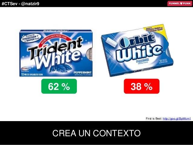 #CTSev - @natzir9 First is Best: http://goo.gl/BpWcm1 62 % 38 % CREA UN CONTEXTO