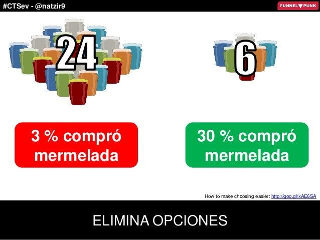 #CTSev - @natzir9 3 % compró mermelada 30 % compró mermelada ELIMINA OPCIONES How to make choosing easier: http://goo.gl/x...