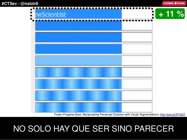 #CTSev - @natzir9 + 11 % NO SOLO HAY QUE SER SINO PARECER Faster Progress Bars: Manipulating Perceived Duration with Visua...
