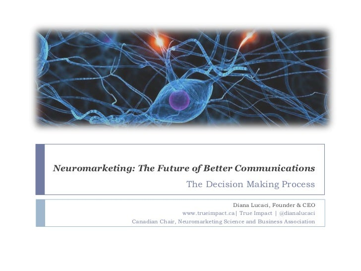 Neuromarketing: The Future of Better Communications                                 The Decision Making Process           ...