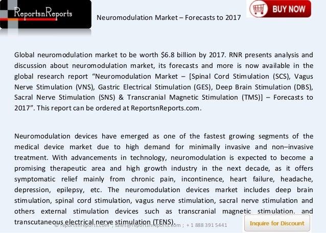 neuromodulation market worth 6 8 billion by 6 major players 8 [2] neuromodulation in minnesota 11   cumulative growth of neurosurgery & neuromodulation in minnesota   estimated to reach $6-7 billion by 20181,2 the neuromodulation market is  dominated by three.