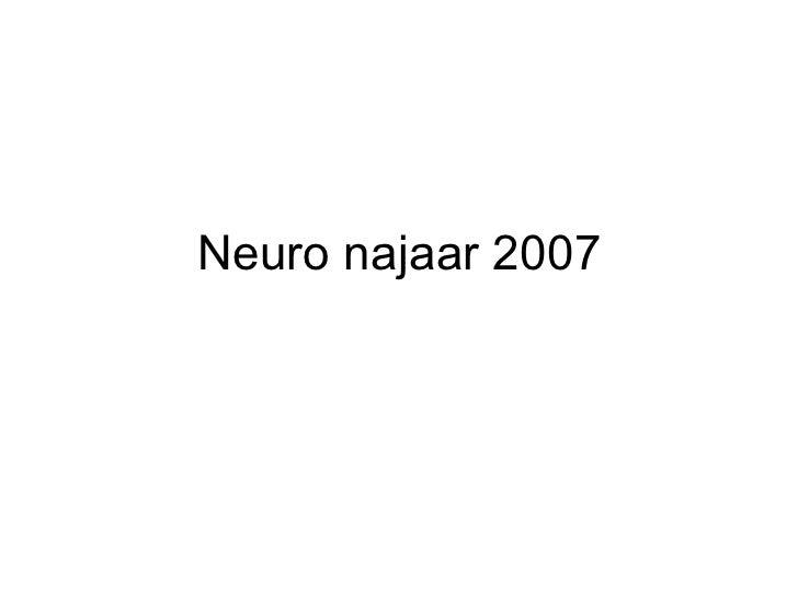 Neuro najaar 2007
