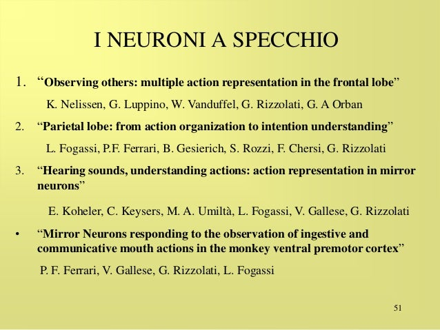Neuroni - Gallese neuroni specchio ...