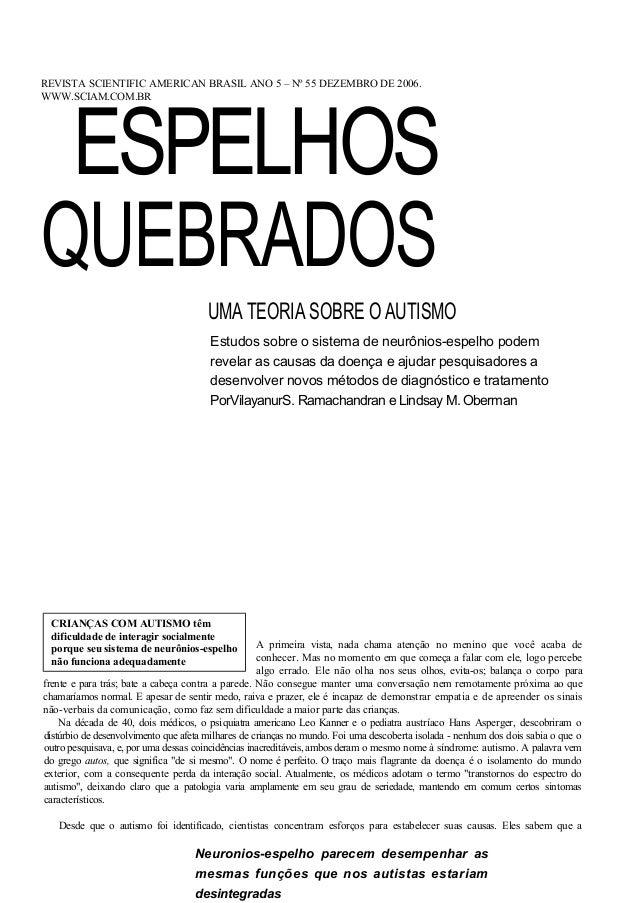 REVISTA SCIENTIFIC AMERICAN BRASIL ANO 5 – Nº 55 DEZEMBRO DE 2006. ESPELHOSWWW.SCIAM.COM.BRQUEBRADOS                      ...