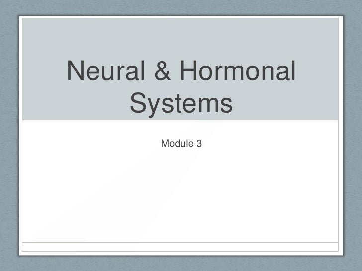 Neural & Hormonal Systems<br />Module 3<br />