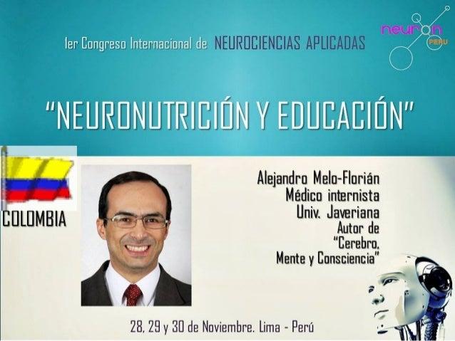 Datos de contacto Alejandro Melo-Florián MD, FACP •http://www.scoop.it/u/alejandro-melo-florian •http://about.me/alejandro...