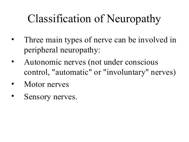 Neuropathy And Its Classification