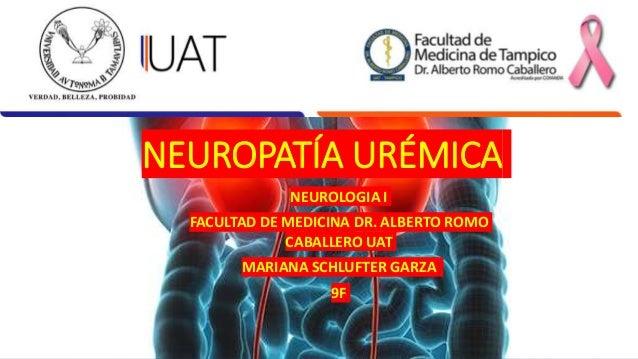 NEUROPATÍA URÉMICA NEUROLOGIA I FACULTAD DE MEDICINA DR. ALBERTO ROMO CABALLERO UAT MARIANA SCHLUFTER GARZA 9F