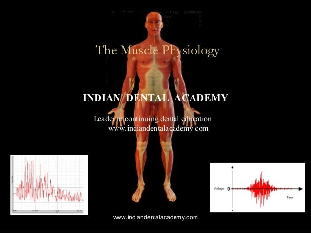 EMG The Muscle Physiology INDIAN DENTAL ACADEMY Leader in continuing dental education www.indiandentalacademy.com www.indi...