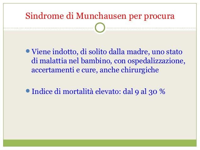 Neuropsichiatria infantile for Sindrome di munchausen per procura