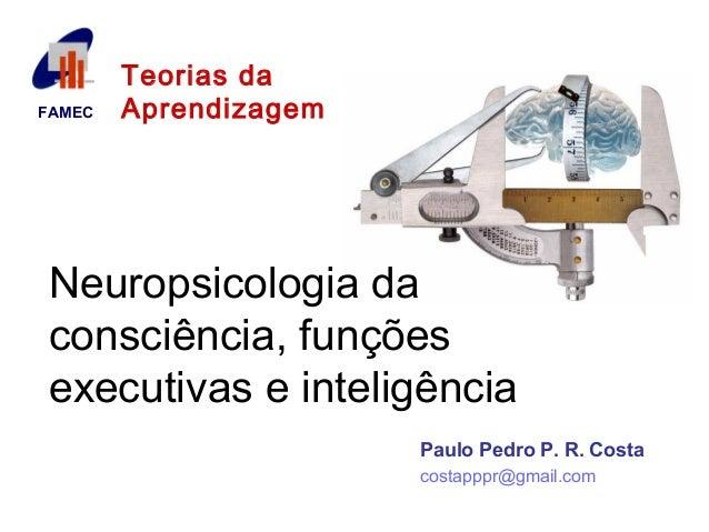 FAMEC  Teorias da  Aprendizagem  Neuropsicologia da  consciência, funções  executivas e inteligência  Paulo Pedro P. R. Co...