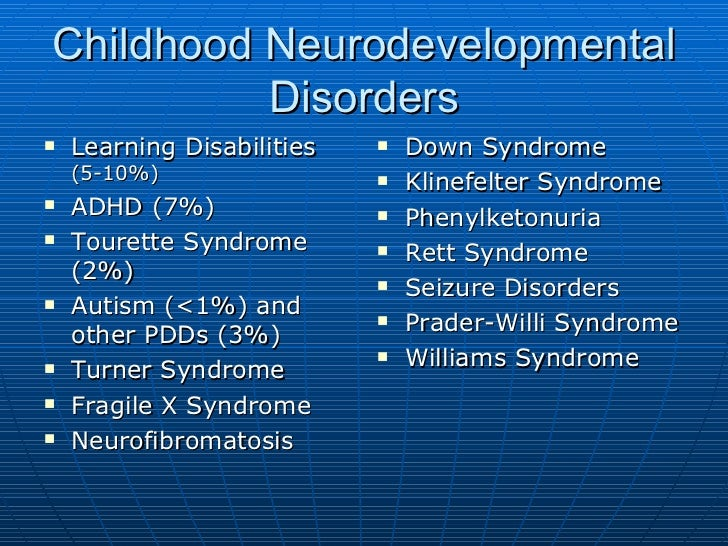 Neuropsychological development of children