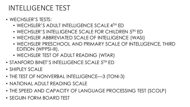 Idea Wechsler adult intelligence scale third edition sorry, that