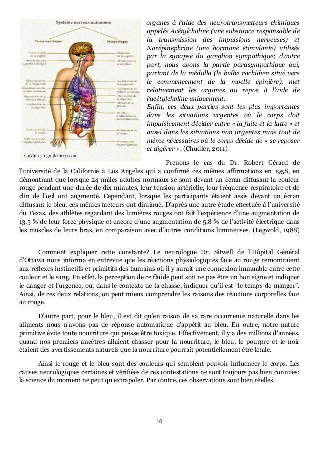 10      Crédits : fr.goldenmap.com organes à l'aide des neurotransmetteurs chimiques appelés Acétylcholine (une substa...