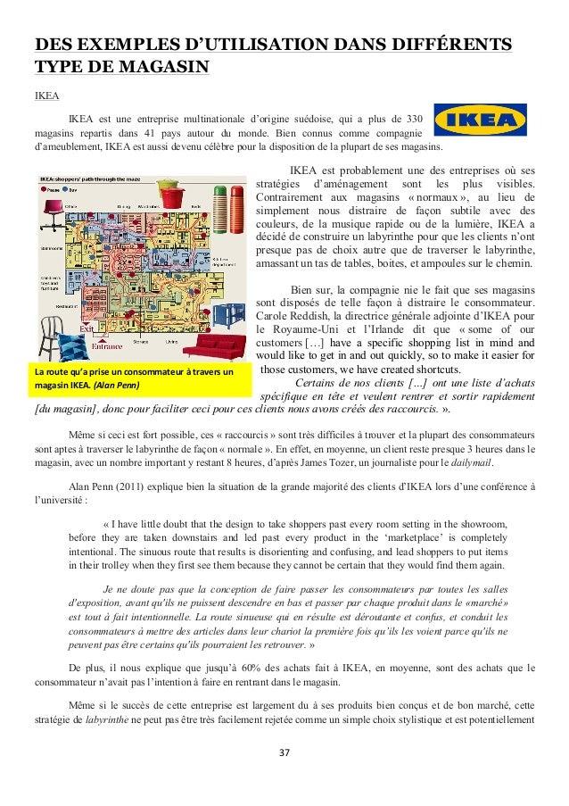 37      DES EXEMPLES D'UTILISATION DANS DIFFÉRENTS TYPE DE MAGASIN IKEA IKEA est une entreprise multinationale d'origi...