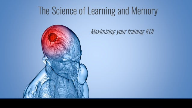 Maximizing your training ROI The Science of Learning and Memory