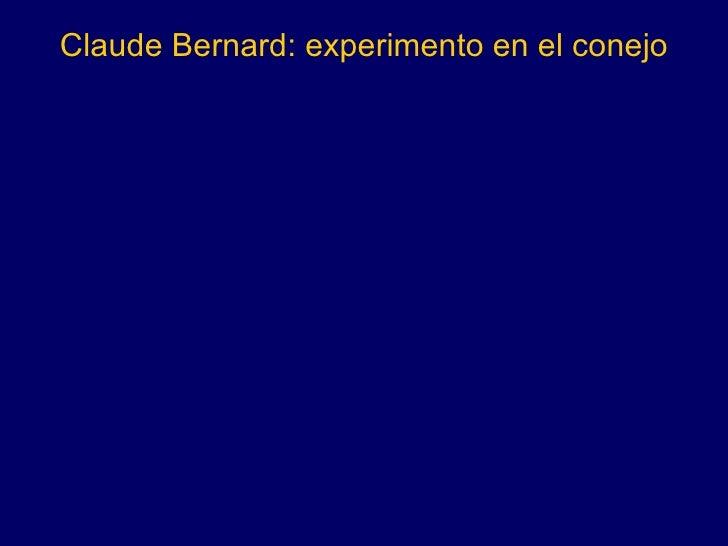 Claude Bernard: experimento en el conejo