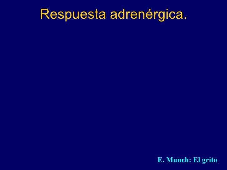 Respuesta adrenérgica. E. Munch: El grito .