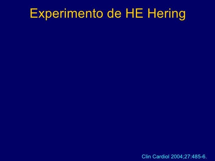 Experimento de HE Hering Clin Cardiol 2004;27:485-6.